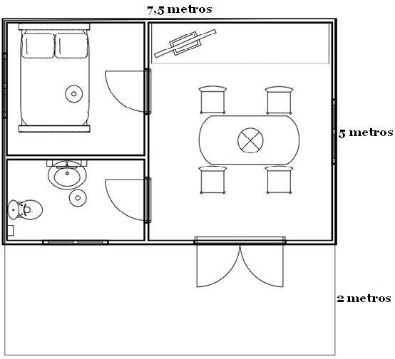 Casa 25 metros cuadrados fabulous plano de de dormitorio for Planos de casas de 24 metros cuadrados